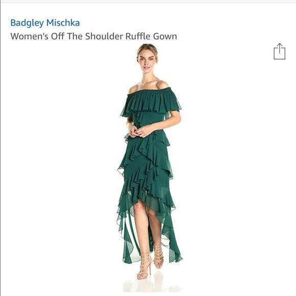 7f6ff6aac9f34 Badgley Mischka Dresses   Womens Off The Shoulder Gown   Poshmark